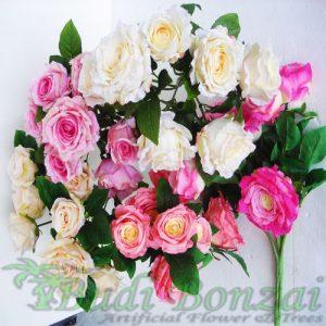 jual bunga mawar plastik